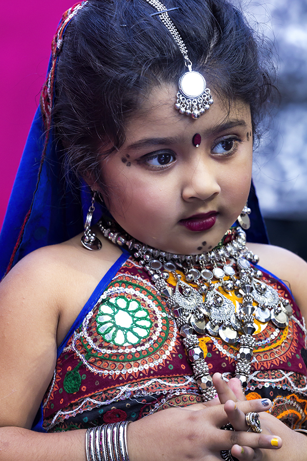 Diwali Festival NYC 2017 Girl in Traditional Dress